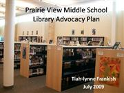 Prairie View Middle School advocacy