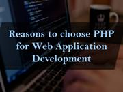 Reasons to choose PHP for web application development
