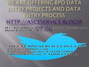 We Are Offering Data Entry Projects