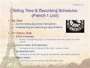 Unit Presentation - Time and Schedules in French
