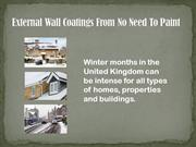 External Wall Coatings from No Need To Paint