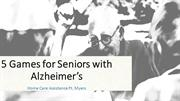 5 Games for Seniors with Alzheimer's