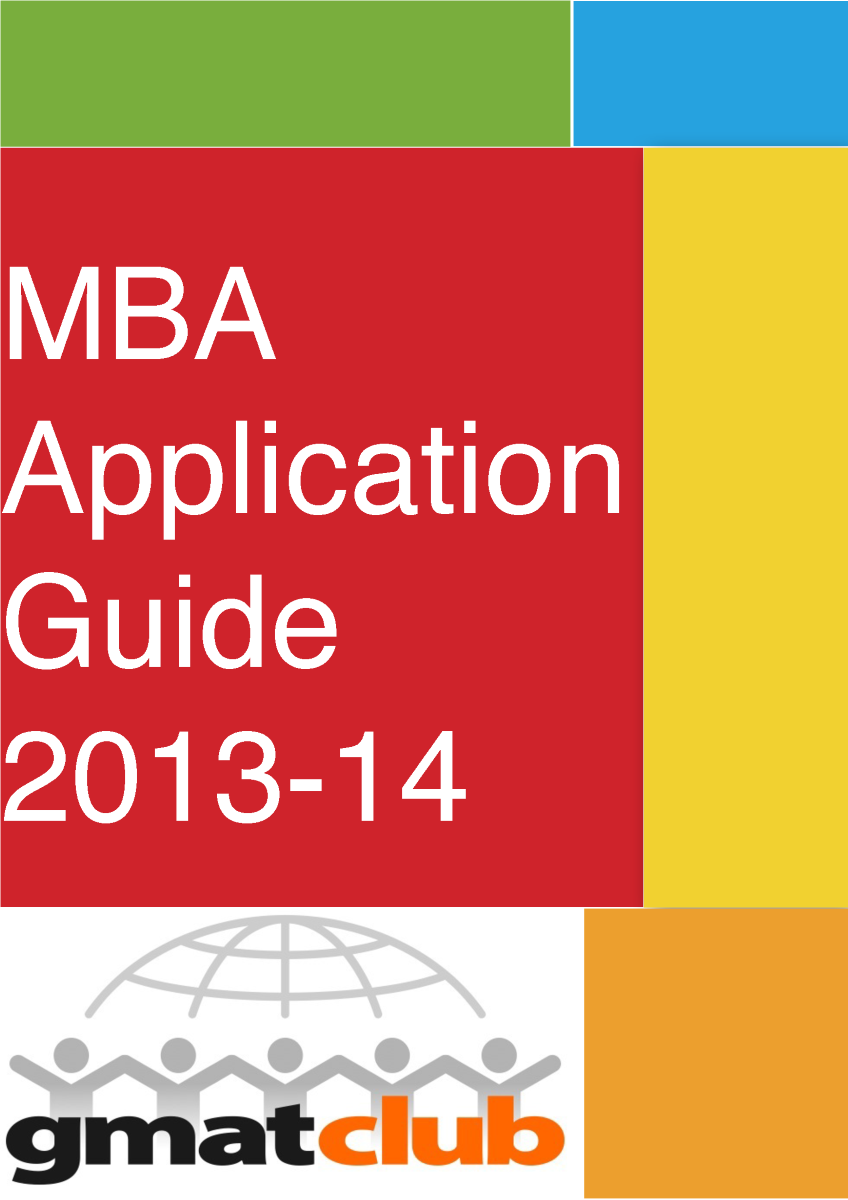 GMAT Club MBA Application Guide 2013-2014 |authorSTREAM