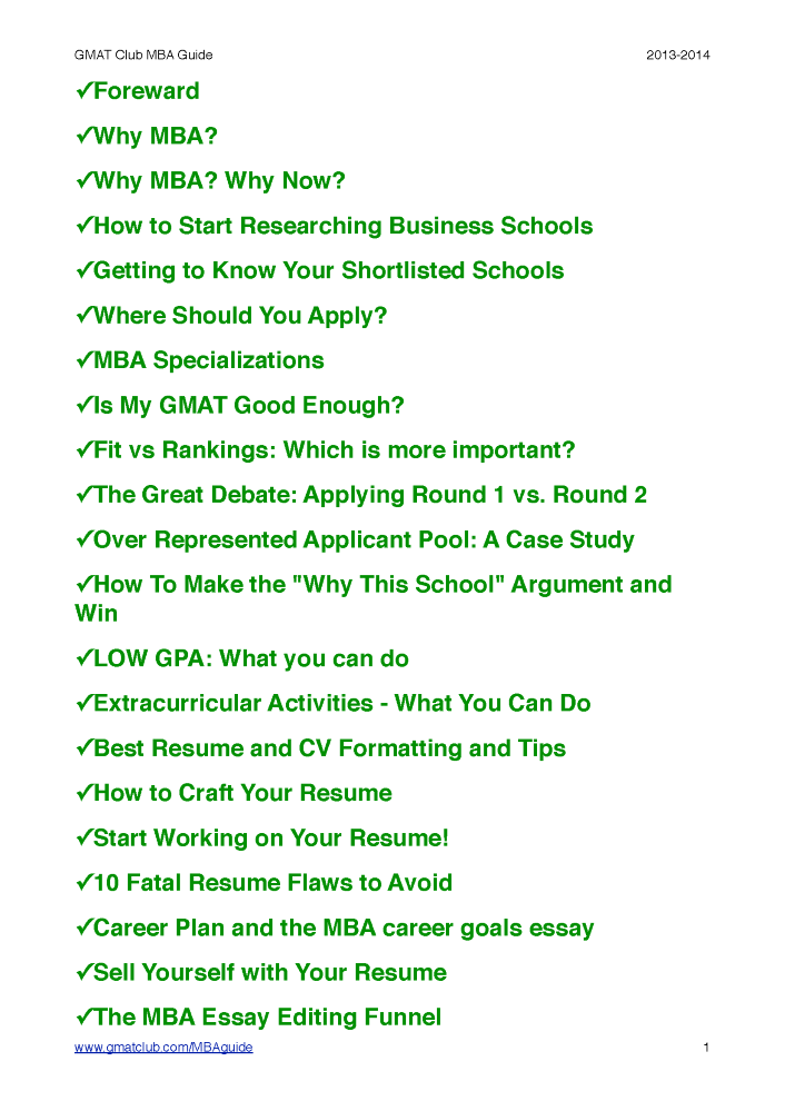 gmat club mba application guide 2013 2014
