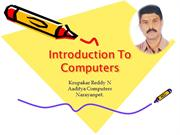 Introduction To Computers 2007