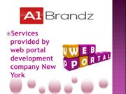 web portal development company New York