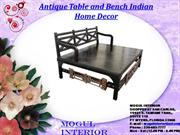 Antique Vintage Table and Bench