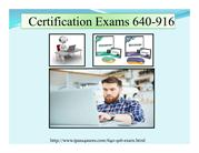 Cisco Certification Exams 640-916 Braindumps