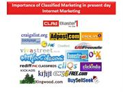 Importance of Classified Marketing in present day Internet Marketing