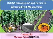 habitat manipulation in IPM