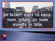 50 Secret ways to drive traffic to a website