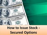 How to Issue Stock - Secured Options
