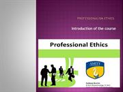 Professionalism Ethics project