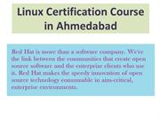 Linux Certification Course in Ahmedabad
