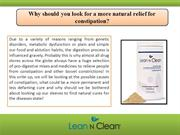 Why should you look for a more natural relief for constipation