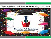Ebook-Top 25 Points to consider while writing PhD Thesis