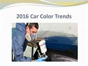 2016 Car Color Trends