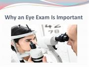 Why an Eye Exam Is Important