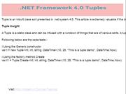 dot NET Framework 4.0 Tuples