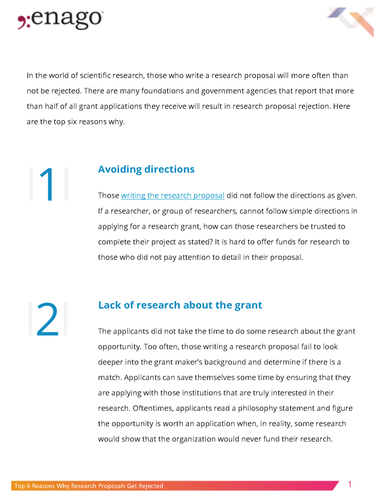 Top 6 Reasons Why Research Proposals Get Rejected Authorstream