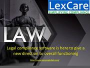 Legal compliance software