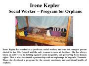 Irene Kepler - Social Worker Program For Orphans
