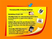 Personal profile of Greysly Zambrano