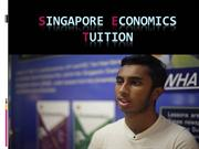 Singapore Economics Tuition