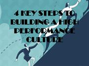 4 Key Steps to Building a High Performance Culture