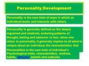 Personality   grooming