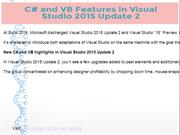 C# and VB Features in Visual Studio 2015 Update 2