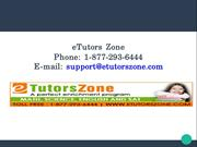 Online Math Tutoring - eTutors Zone