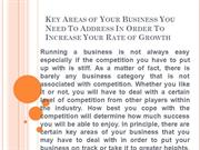 Key Areas of Your Business Marketing