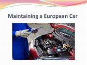 Maintaining a European Car