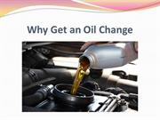 Why Get an Oil Change