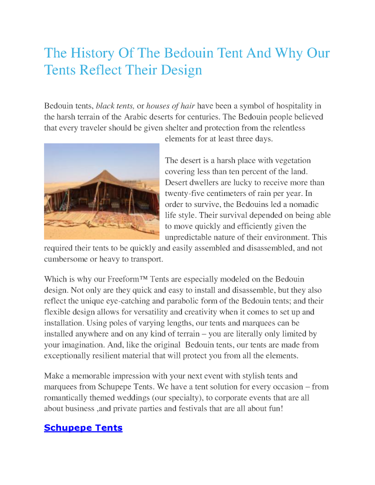 Title The History Of The Bedouin Tent And Why Our Tents Reflect Their Design  sc 1 st  authorSTREAM & The History of the Bedouin Tent And Why Our Tents Reflect Their De ...