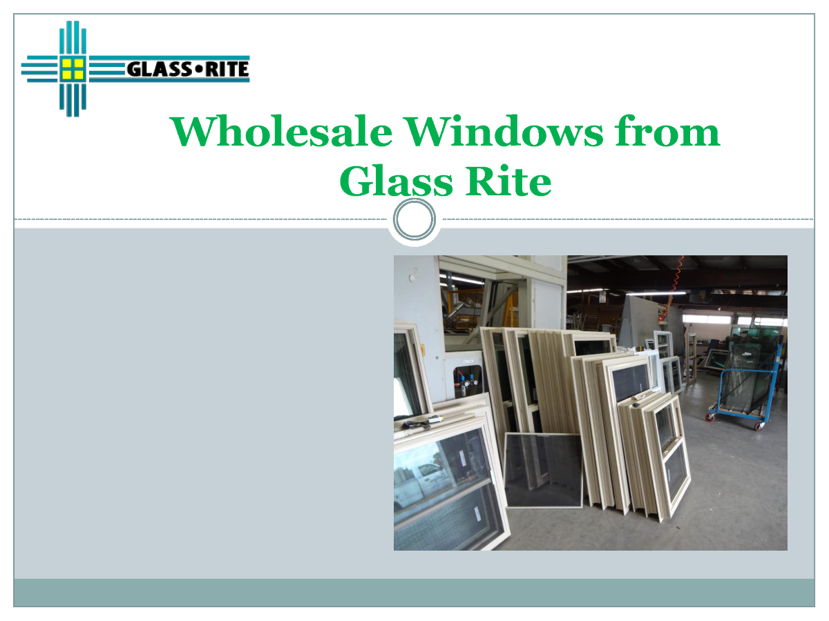 Santa fe wholesale windows authorstream for Wholesale windows