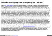 Who is Managing Your Company on Twitter
