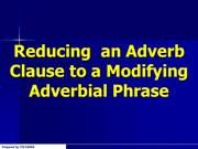 Reducing Adverb Clauses