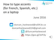 How to type accents fluently without Alt Codes using Windows 10