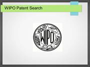 WIPO patent search