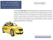Taxi Service for Zurich to Basel - 078 8613550