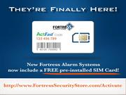 Get Your Fortress Alarm Sim Card For Free Now