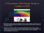 10 Ecommerce Web Design Trends to consider in 2016