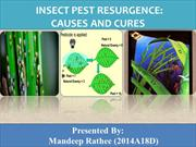 Insect resurgence Causes and Cures
