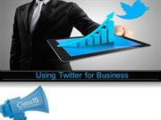 Using twitter for business