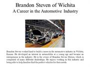 Brandon Steven of Wichita  A Career in the Automotive Industry