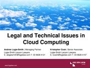Legal and Technical Issues in Cloud Computing