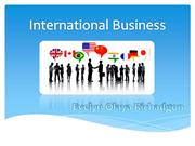 Project - International Business