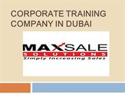 Max Sale Solutions- Sales and Marketing Courses in Dubai